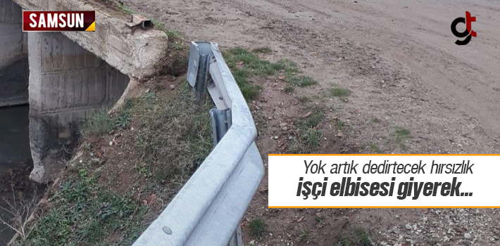 Samsun'da Yok Artık Dedirtecek Hırsızlık