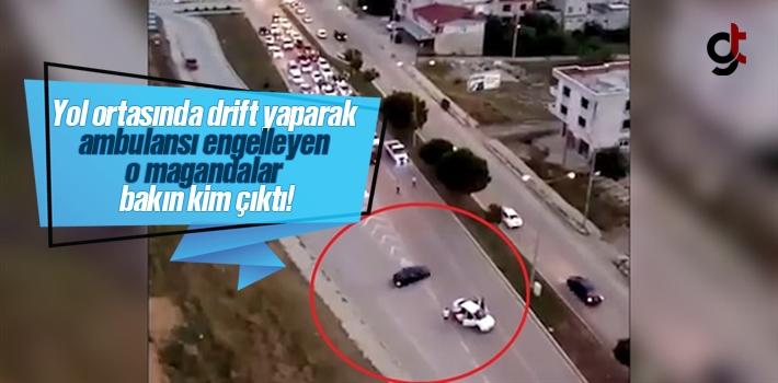 Samsun'da yol ortasında drift yaparak ambulansı...