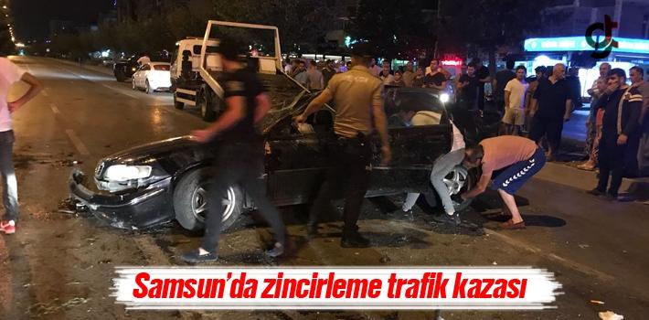 Samsun'da Zincirleme Trafik Kazası Meydana Geldi