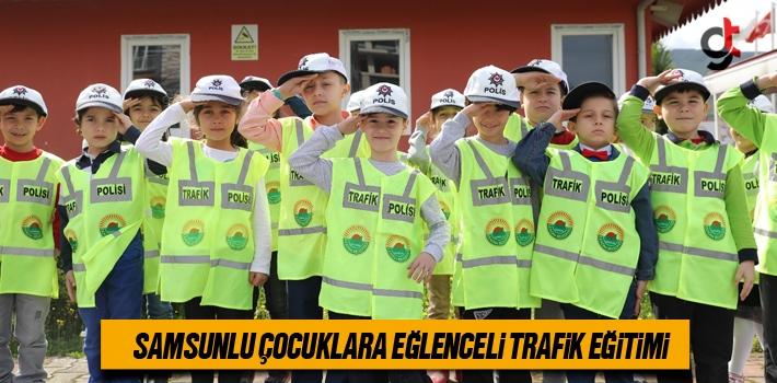 Samsunlu Çocuklara Eğlenceli Trafik Eğitimi