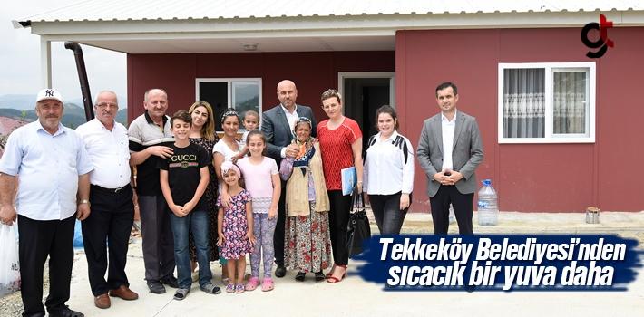 Tekkeköy Belediyesi'nden Sıcacık Bir Yuva Daha