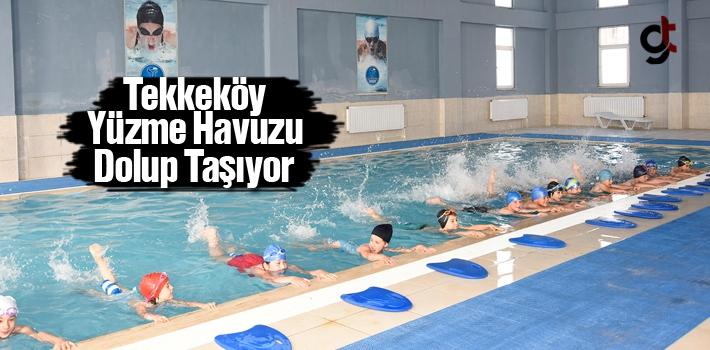Tekkeköy Yüzme Havuzu Dolup Taşıyor