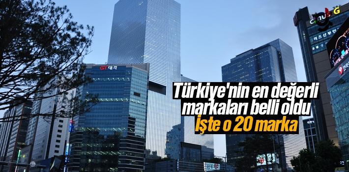 Türkiye'nin En Değerli 20 Markası Belli Oldu