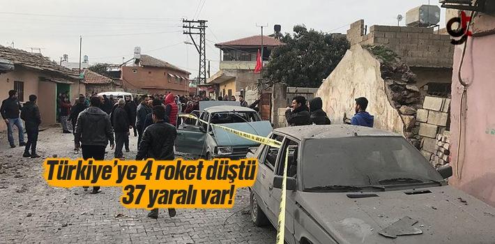 Türkiye'ye Dört Roket Düştü, 37 Yaralı Var