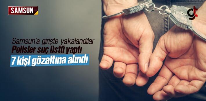 Uyuşturucuları Samsun'a Sokamadan Yakalandılar