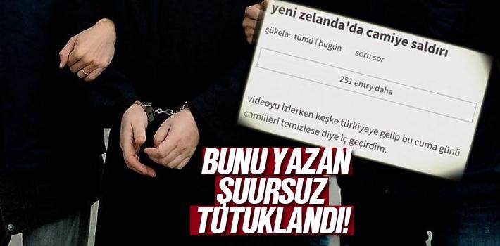 Yeni Zelanda Katliamı Türkiye'de Camilerde Olsun Diyen Ekşisözlük Yazarı Tutuklandı