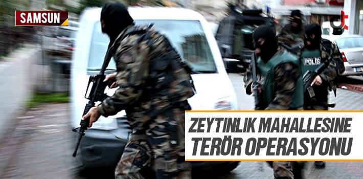 Zeytinlik Mahallesine Terör Operasyonu 2 Kişi Yakalandı