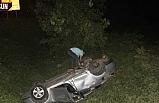 Yoldan çıkıp takla attı, 5 kişi yaralandı