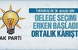 Tekkeköy'de delege seçimi erken başladı, ortalık karıştı