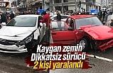 Samsun Çarşamba'da 2 araç çarpıştı
