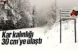 Samsun'da kar kalınlığı 30 cm'ye ulaştı